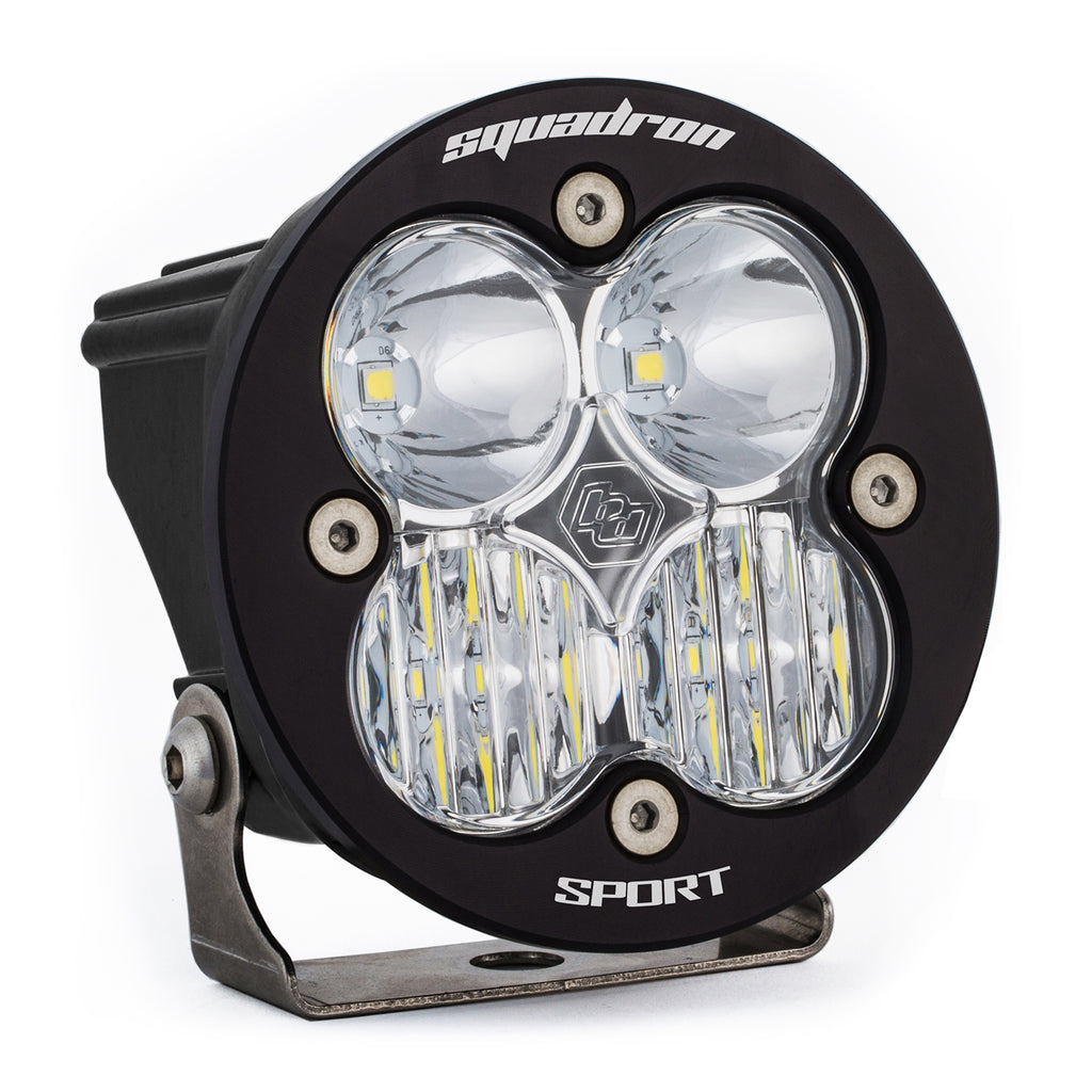 Squadron-R Sport auxiliary light using 4 leds 1,800 lumens in a 3.5x3.5 housing. (580003) | Baja Designs