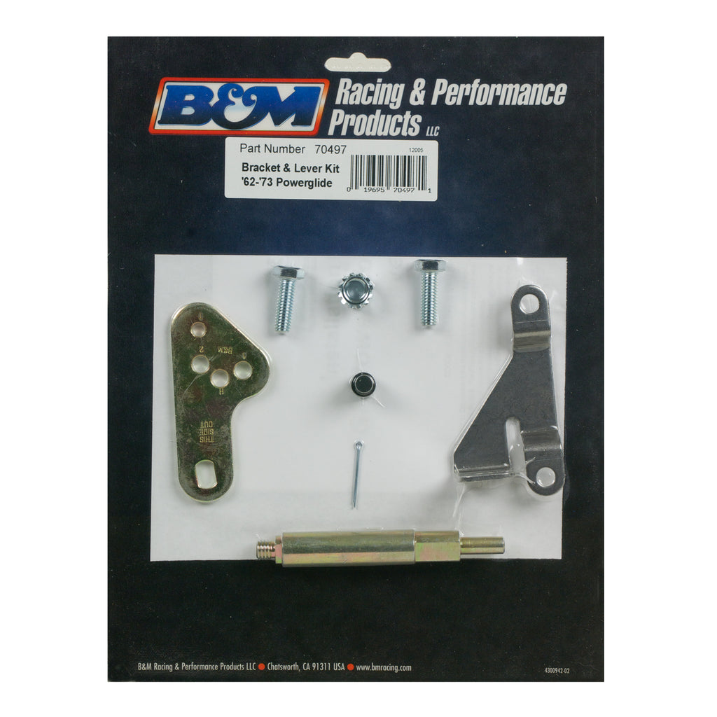 Bracket and Lever Kit for GM Powerglide Automatice Transmissions w/o a throttle (70497) | B&M