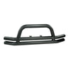 Double Tube Bumper, Front, 3 Inch, Black; 76-06 Jeep CJ/Wrangler YJ/TJ (11561.01) | Rugged Ridge
