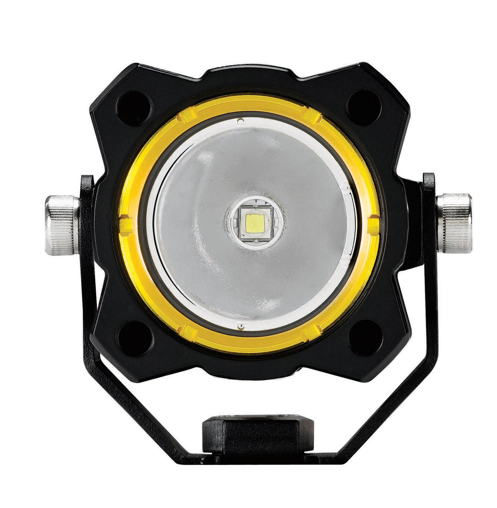 KC Hilites 1269 Flex Single LED Light feature bright CREE LEDs in a spread beam pattern. Compact, high-grade aluminum housings using precision reflectors. Optional colored bezels available, perfect for motorcycle, Jeep, and truck LEDs. (1269) | KC Hi