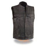 Men's Open Neck Snap/Zip Front Club Style Vest ELM3910