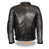 Men's Side Lace Vented Scooter Jacket LKM1765