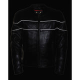 Men's Side Stretch Jacket W/ Reflective Piping LKM1785