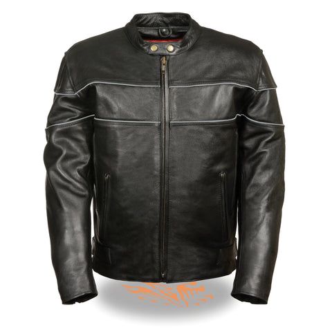 f51d7b97c Men's Brown Distressed Scooter Jacket W/ Venting MLM1550 – LongRider ...