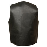 Men's Plain Side Lace Vest W/ Buffalo Snap LKM3700