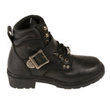 Women's Side Buckle Plain Toe Boot MBL9310