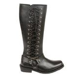 "Women's ""14"" Inch Classic Harness Square Toe Leather Boot w/ Full Lacing MBL9365"