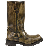 "Men's Distressed Brown 11"" Inch Classic Harness Boot MBM9005"