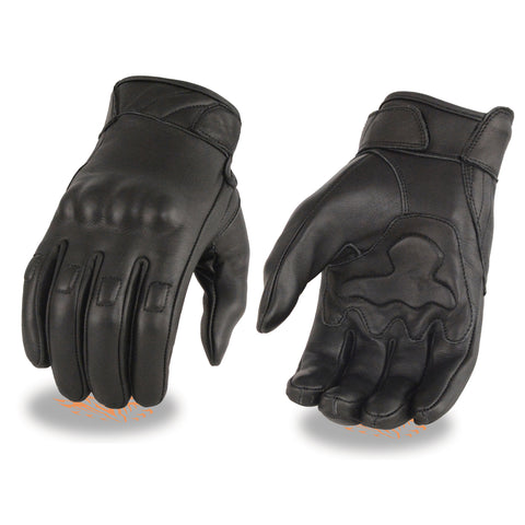 Men's Full Finger Leather Gloves MG7501