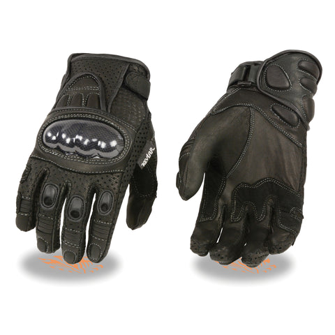 Men's Full Finger Leather Gloves SH298