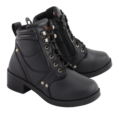 Kid's Side Zipper Plain Toe Boot, MBK9265
