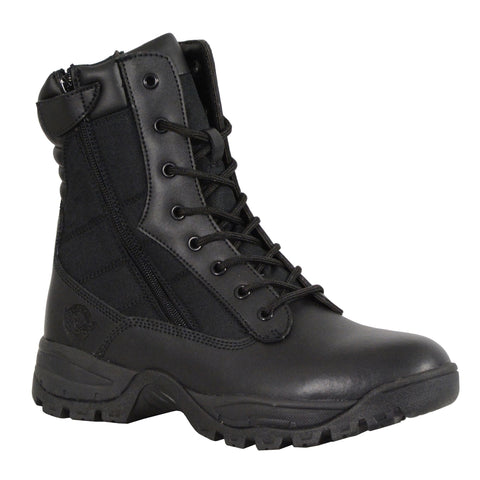 "MBM9110 Men's 9"" Leather Tactical Boot w/ Side Zipper"