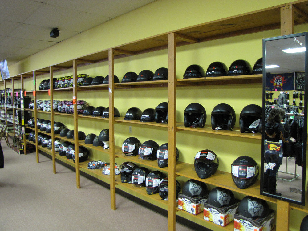 interior store helmets picture
