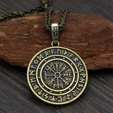 Vegvisir with Runes Pendant Necklace