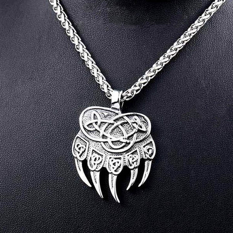 Norse Bear Claws Pendant Necklace