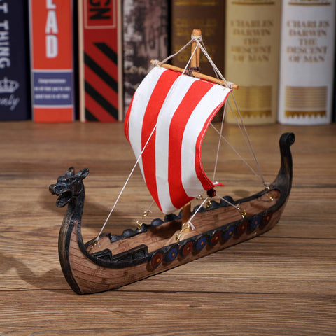 Norse Viking Longship Model (Ready-made ship model, no assembly required)