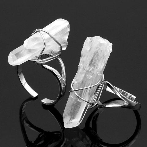 Ice of Eternity - Clear Quartz Resizable Ring