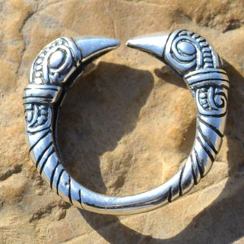 Viking Raven Heads Ring - Sterling Silver
