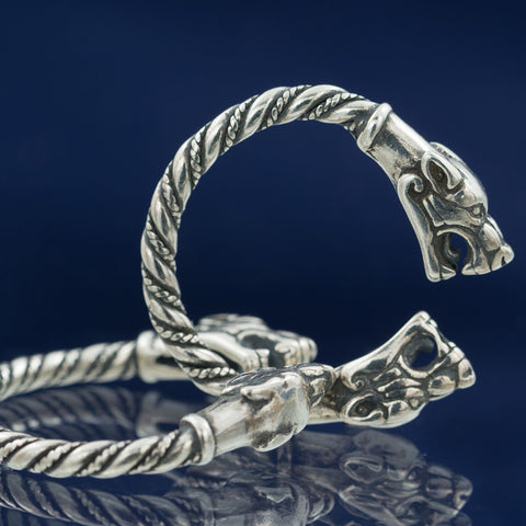 Viking Wolves Ring - Sterling Silver