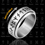 Norse Runes Rotatable Ring