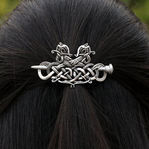 Viking Dragons Knot Hairpin