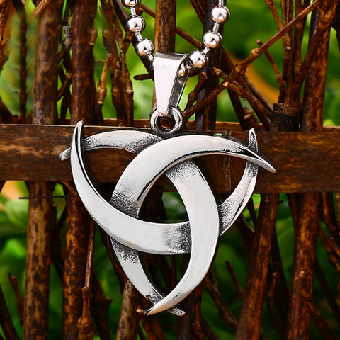 Triple Horn of Odin Pendant Necklace