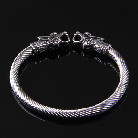 Norse Wolves Stainless Steel Bangle
