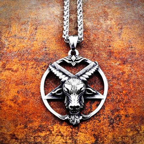Baphomet Pentagram Pendant Necklace