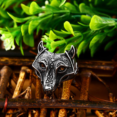 Norse Wolf Ring
