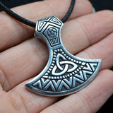 Triquetra Axe Head Pendant Necklace