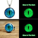 Glow-In-The-Dark Cat Eye Pendant & Ring Set