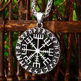 The Runic Viking Compass Pendant Necklace