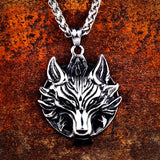 Fiery Fenrir Pendant Necklace