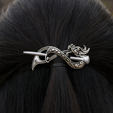 Norse Serpent Hairpin