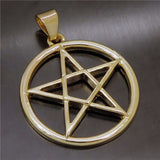 Gold/Silver Plated Pentacle Pendant Necklace