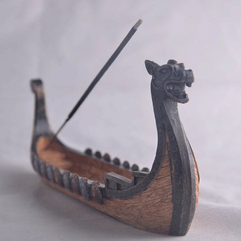 Viking Ship Incense Holder