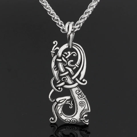 Norse Dragon Pendant Necklace