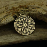Aegishjalmur (Helm of Awe) Medallion Pendant - Bronze