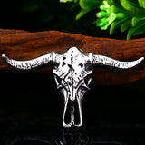 Bull Skull Pendant Necklace