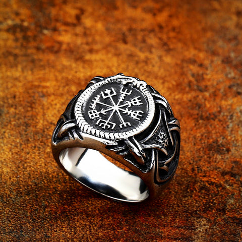 Vegvisir Dragon Ring