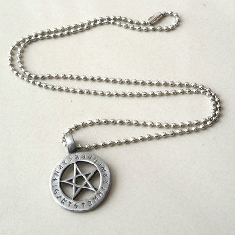 Runic Magic Pentacle Pendant Necklace