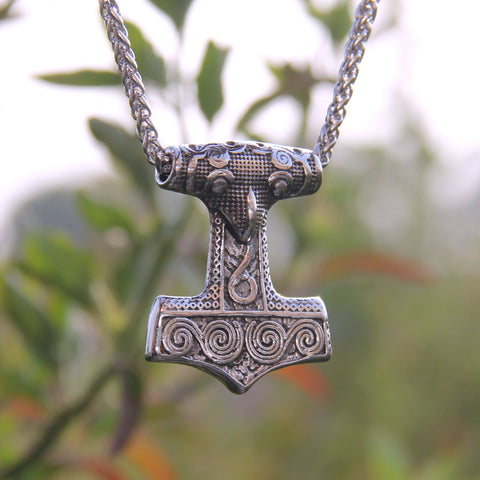 Skåne Thor's Hammer - Stainless Steel Pendant Necklace