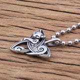 Triquetra Cat Pendant Necklace