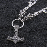 Mjolnir with Dragon Chain