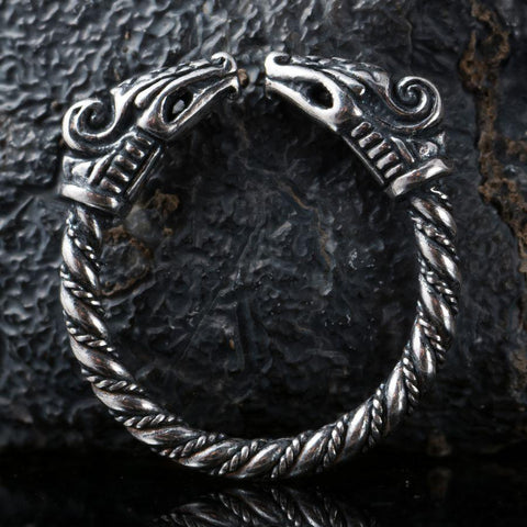 Viking Dragon Ring - Sterling Silver