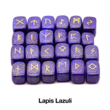25 Pieces Rune Stones Set (24 Runes + 1 Blank)