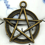 Antique Silver/Bronze Witchy Pentacle (Pendant Only)