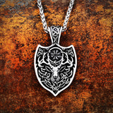 Norse Deer Pendant Necklace