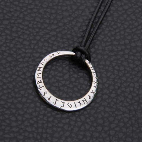 Runes Circle Pendant Necklace