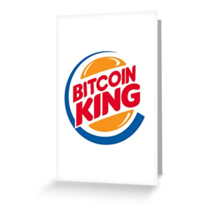 Bitcoin King Greeting Card